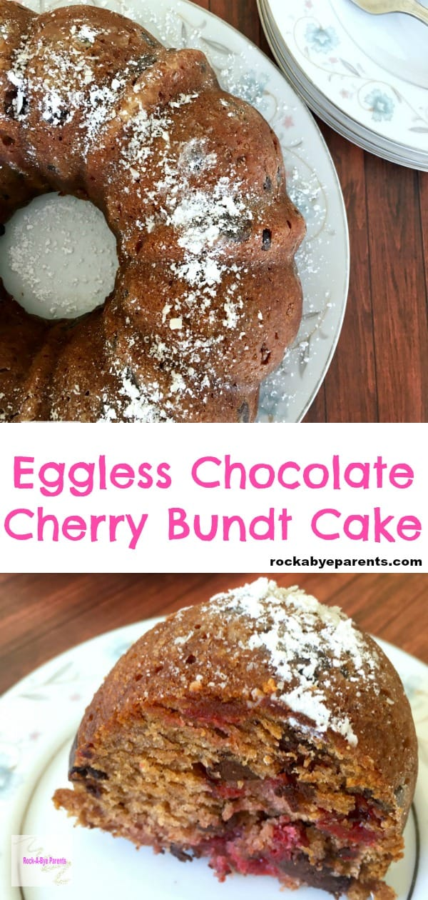 Eggless Bundt Cake with Cherry Pie Filling