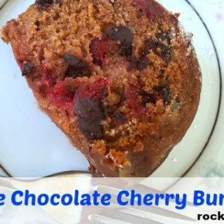 Eggless Chocolate Cherry Bundt Cake