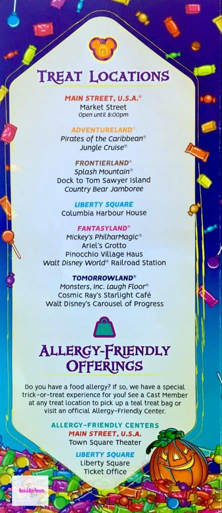 Mickey's Halloween Party Treat Locations