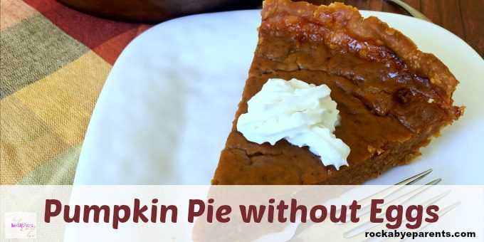 Easy Pumpkin Pie without Eggs