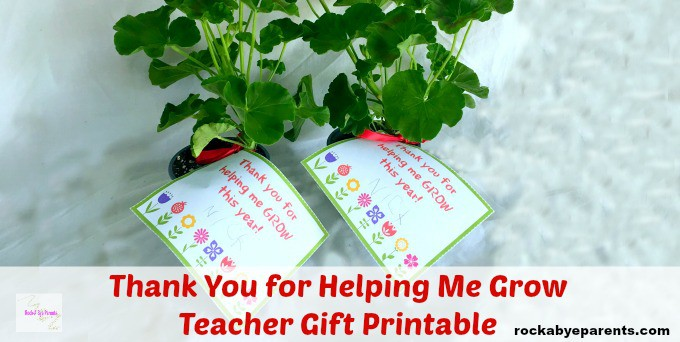 Printable Teacher Thank You