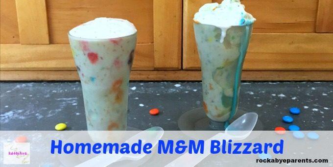 Homemade M&M Blizzard